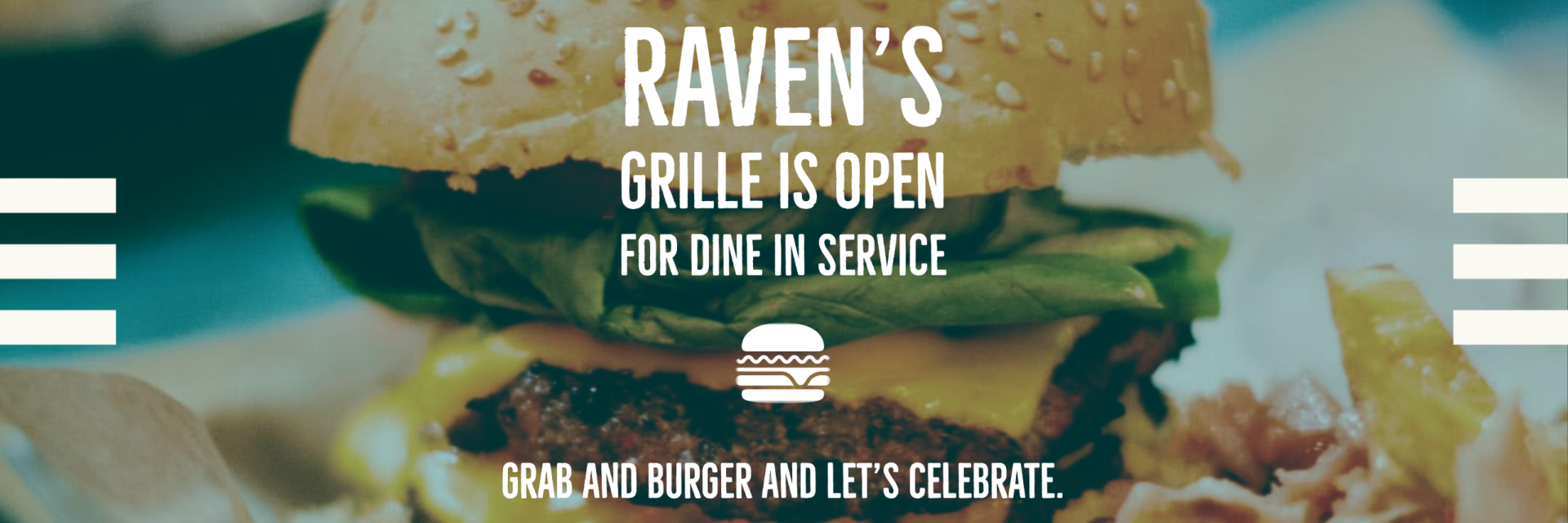 Raven's Grille Open Banner